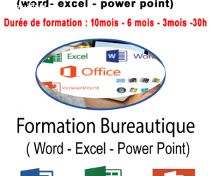 Formation Bureautique ( word- excel – power point)