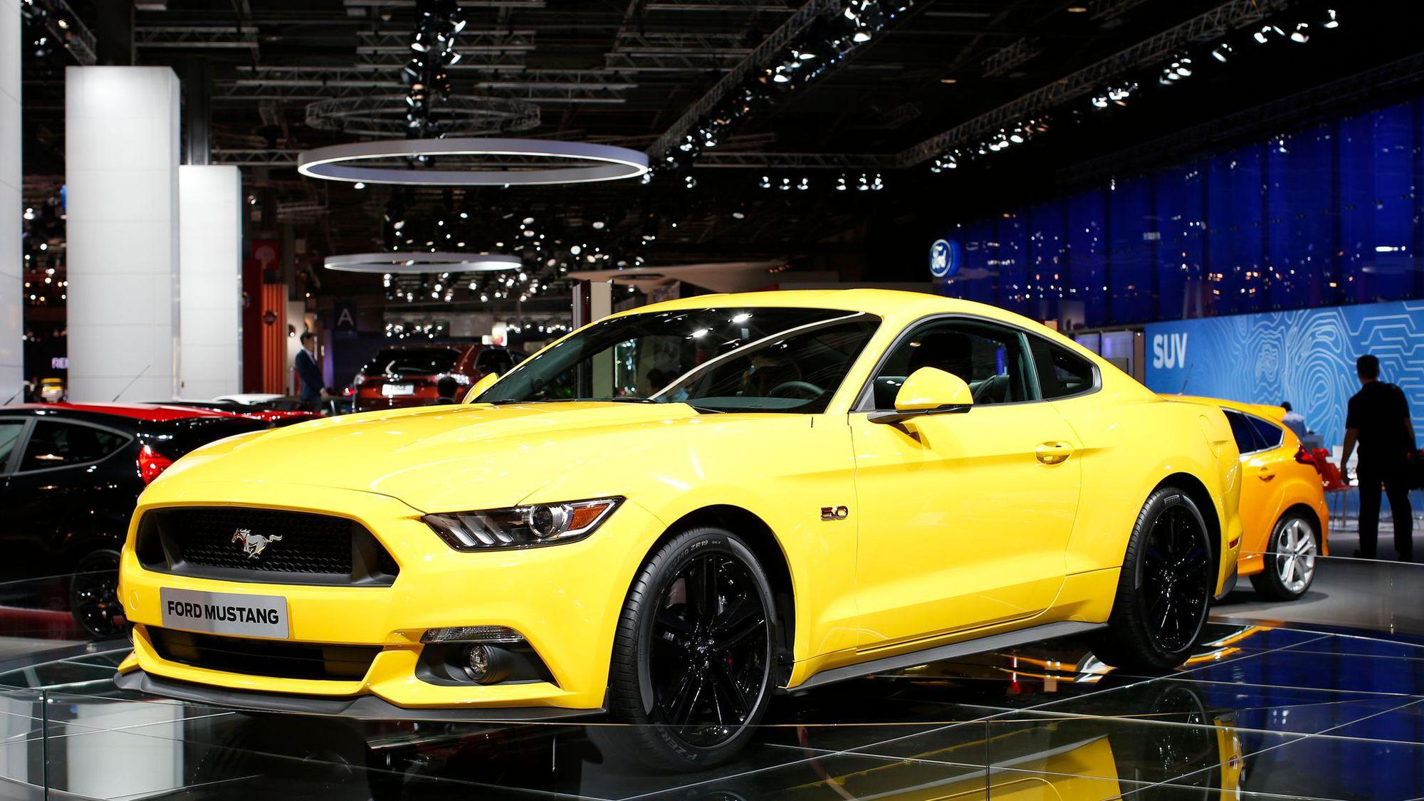 ford mustang jaune voiture maroc