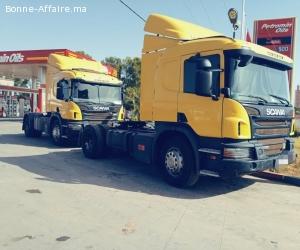 2 Camions Scania P360 ventouse à vendre