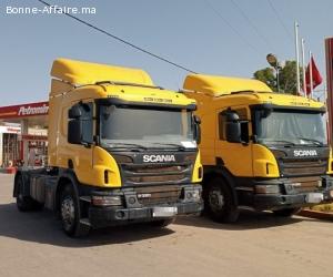 2 Camions Scania P360 ventouse Benslimane