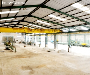 A louer — Bâtiment industriel 1.300 m² — ZI Bouskoura