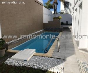 À louer villa neuve haut standing avec piscine à Hassan Raba