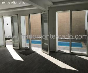 À louer villa neuve haut standing avec piscine Hassan Rabat