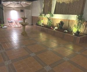 Appartement meublé avec grande cour en location àrabat agdal