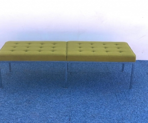 Banquette 3 places Florence Knoll tissus