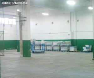 Bâtiment de stockage 500 m² à Ain Sebaâ