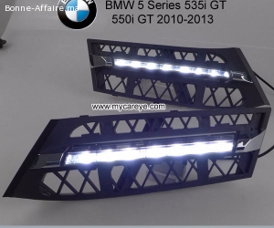 BMW GT 535i 550i front light led upgrade DRL LED Daytime Run
