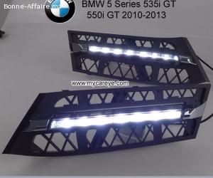 BMW GT 535i 550i front light led upgrade DRL LED Daytime Run