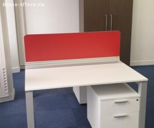 bureau open space 2 personnes bench