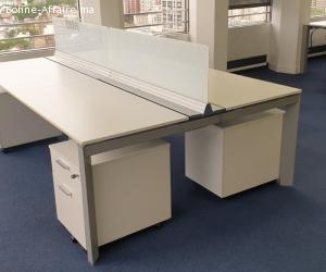 bureau open space 4 personnes bench