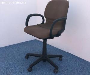 Chaise à roulette Steelcase tissus marron