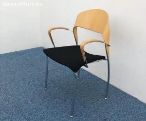 Chaise accueil design finition bois