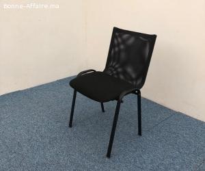 Chaise accueil visiteur Novi résille noir