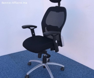 Chaise de bureau à roulette X TRA avec appuis tête