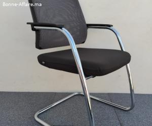 Chaise visiteur inox Sedus dossier résille NW