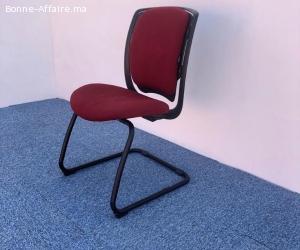chaise visiteur luge sedus bordeaux