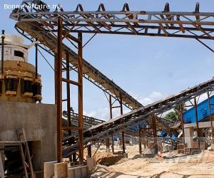 Concasseur pour minerai de manganèse et fer de 150 t/h