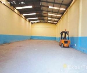 Dépot de 500 m² à louer parc industriel de Bouskoura