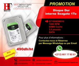 Disque Dur interne seagate 1To