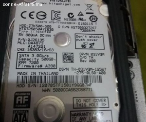 Disque Dur Sata 500Gb (Pc Portable Ou Externe)