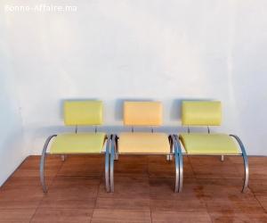 Ensemble de trois fauteuil en simili-cuir couleurs