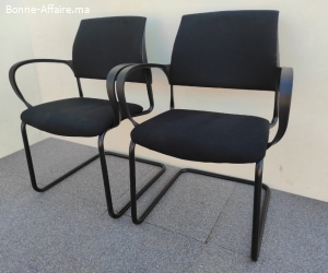 Ensemble deux chaise visiteur magencia