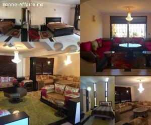 étage villa  équipé 3 chambres
