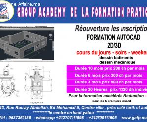 FORMATION  AUTOCAD  2d -3d