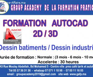 formation AutoCad 2d et 3d  Kenitra