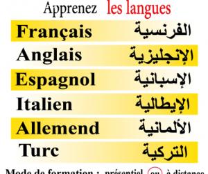 Formation en Français -Anglais – Allemand-espagnol