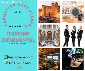 Formation GRATUITE en tourisme événementiel à Fes