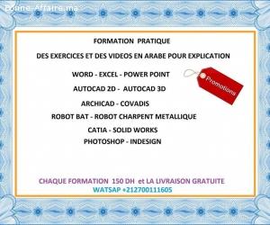 formation pratique sur dvd ( des PDF + des vidéos)  : format