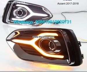 Hyundai Accent 17-18 DRL LED Daytime Running Lights autobody