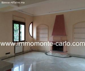 Jolie Villa à louer avec chauffage central à Souissi RABAT