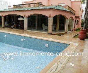 Location une villa meublée avec piscine à Rabat au quartier