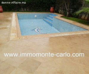 Location une villa meublée avec piscine à Souissi