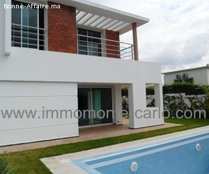 Location villa haut standing à Rabat avec piscine à Souissi