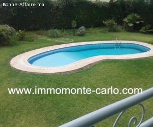 Location villa  haut standing avec piscine à Souissi RABAT