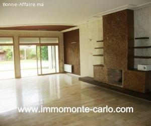Location villa moderne au quartier Souissi Rabat