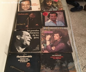Lot de 10 disques vinyle 33 tours (Etat excellent)