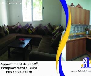 Magnifique appartement de superficie 56 m²