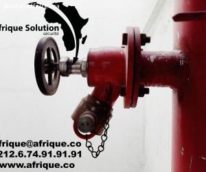 Maroc Installation RIA et poteau d'incendie