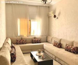 Moderne appartement meublé en location à Rabat Agdal