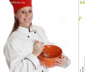 mondial service cherche une cuisinière  logé
