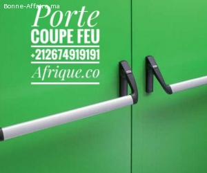 Rabat porte coupe feu PCF anti-panique