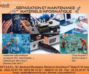Réparation et maintenance matériels informatique