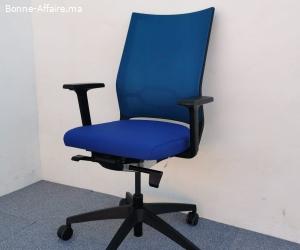 Sedus quarterback chaise a roulette couleur bleu
