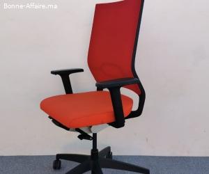 Sedus quarterback chaise a roulette couleur rouge