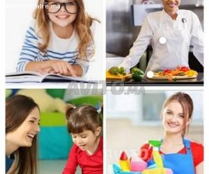 Service à domicile ménage cuisine garde enfant