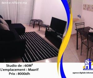 Studio de 60 m² à maarif